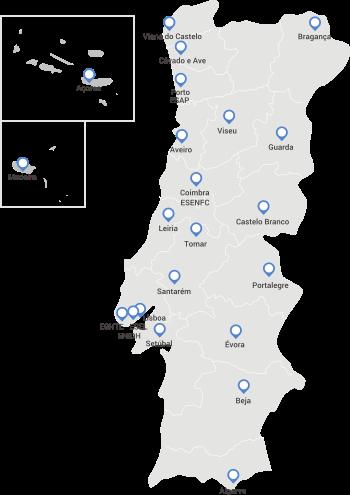 Mapa de Instituições Afiliadas