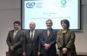 Dta para Esq. - Prof. Pedro Dominguinhos; Prof. Nuno Mangas; Prof. Paulo Speller; Profª Ana Paula Laborinho