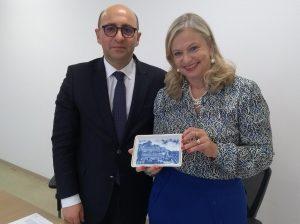 Prof. Nuno Mangas e Dra. Laura Laganá